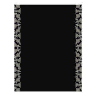 """Personalizable gótico medieval de la flor folleto 8.5"""" x 11"""""""