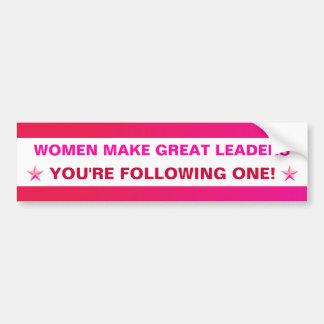 Personalizable: ¡Grandes líderes de las mujeres! Etiqueta De Parachoque