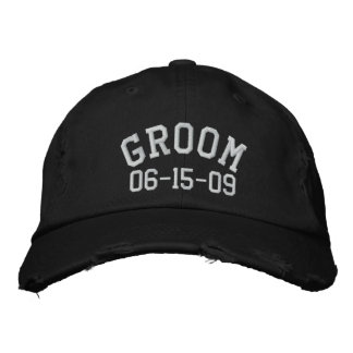 Personalizable Groom Embroidered Hat