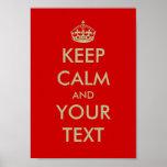 Personalizable guarda el texto tranquilo del perso póster