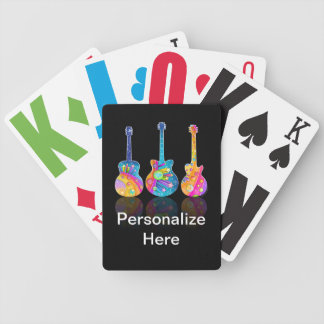 Personalizable GUITAR REFLECTIONS PLAYING CARDS Bicycle Playing Cards