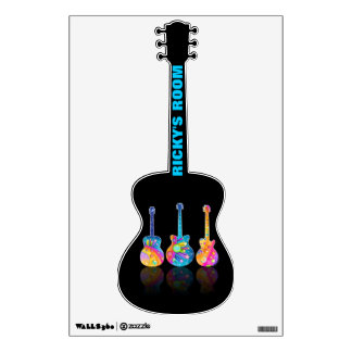 Personalizable GUITAR WALL DECAL