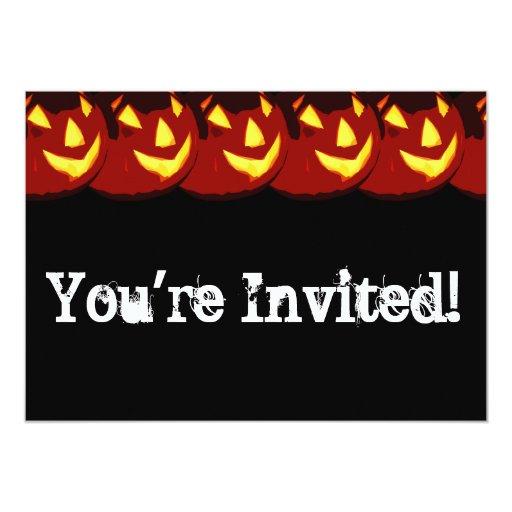 Personalizable Halloween Jack O Lantern Invitation