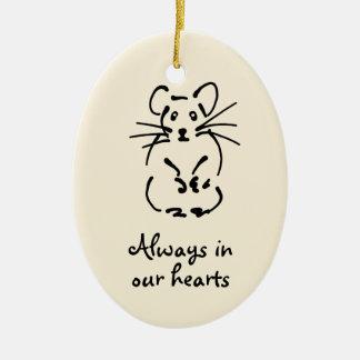 Personalizable Hamster Memorial Ornament