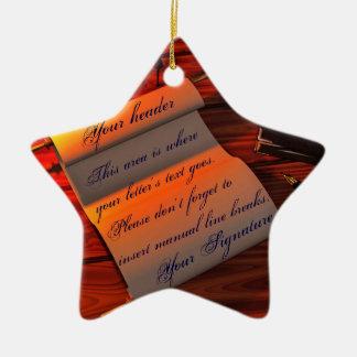 Personalizable Handwritten Letter Ceramic Ornament