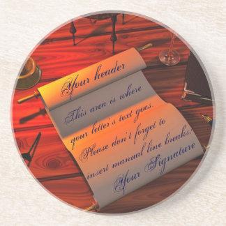 Personalizable Handwritten Letter Coaster