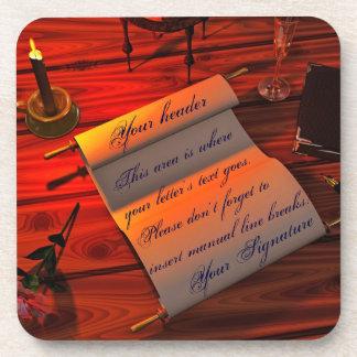 Personalizable Handwritten Letter Drink Coaster