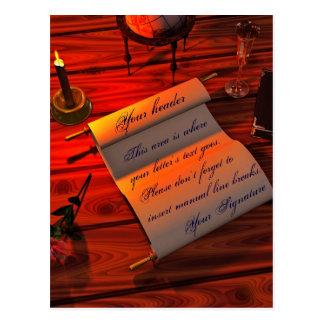 Personalizable Handwritten Letter Postcard