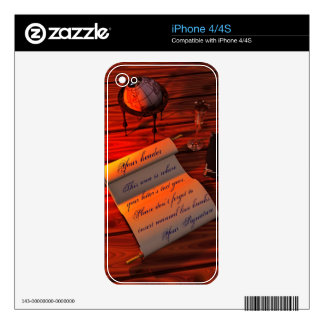 Personalizable Handwritten Letter Skin For iPhone 4