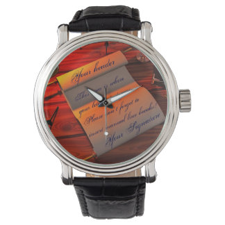 Personalizable Handwritten Letter Wristwatch