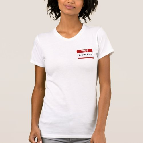 Personalizable Hello My Name Is Red T_Shirt