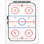 Personalizable Hockey Rink Game Planner Dry-Erase Whiteboard