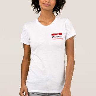 Personalizable hola mi nombre es… (Rojo) Camiseta