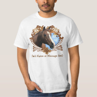 Personalizable Horse Graphic T-Shirt