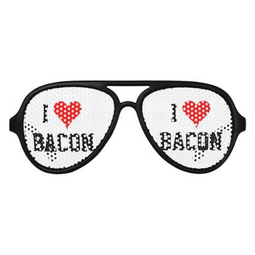 Personalizable i heart bacon party shades