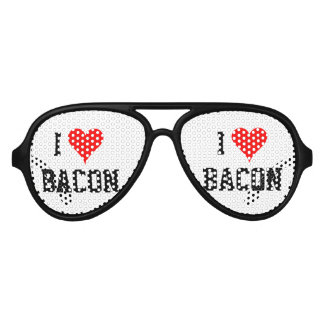 Personalizable i heart bacon party shades