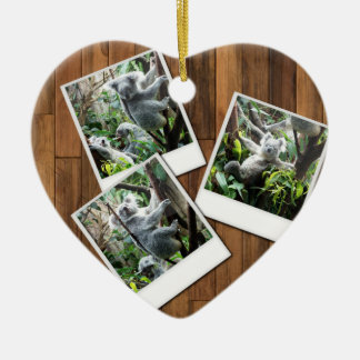 Personalizable Instant Multi Photo Frame Ceramic Ornament