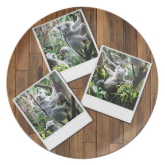 Personalizable Instant Multi Photo Frame Dinner Plate