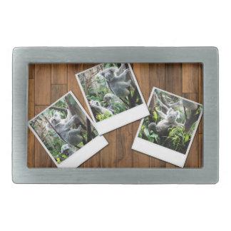 Personalizable Instant Multi Photo Frame Rectangular Belt Buckle