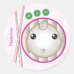 Personalizable: Kawaii poca bola de masa hervida Pegatina Redonda