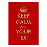 Personalizable Keep calm poster | Customize text