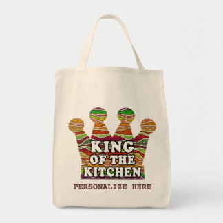 """Personalizable """"KING OF THE KITCHEN"""" GROCERY  BAG"""