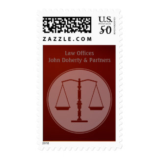 Personalizable Law Postage Scales of Justice