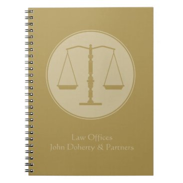 Personalizable Lawyer | Scales of Justice Notebook