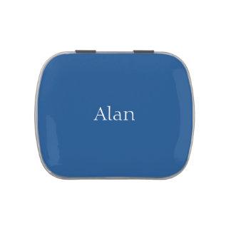 Personalizable ligero de los azules marinos latas de caramelos