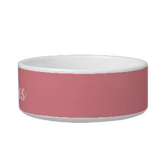 Personalizable ligero del rosa de la fresa comedero para mascota