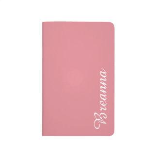 Personalizable ligero del rosa de la fresa cuadernos grapados