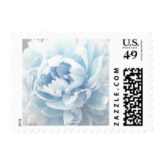 Personalizable Light Blue Peony Postage Stamps