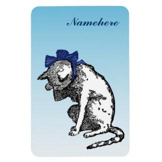 Personalizable: Limpie el gatito Imán Flexible