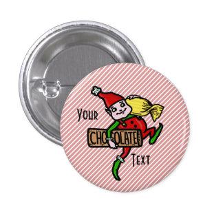Personalizable lindo del duende del navidad del ca pin