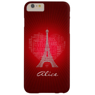 Personalizable Love Paris Barely There iPhone 6 Plus Case