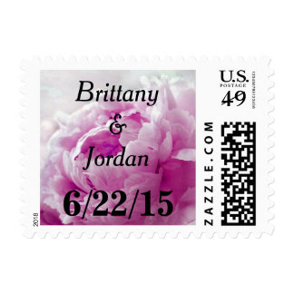 Personalizable Magenta Pink Peony Postage Stamp