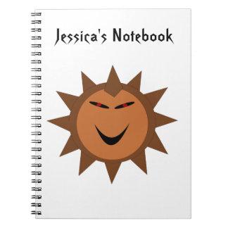 Personalizable malvado N de Halloween del gótico d Cuadernos