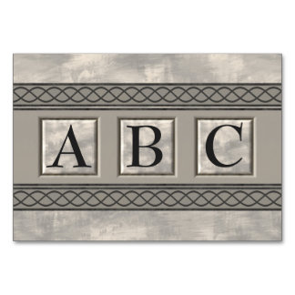 Personalizable Marble Monogram Card