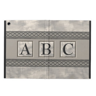 Personalizable Marble Monogram Cover For iPad Air