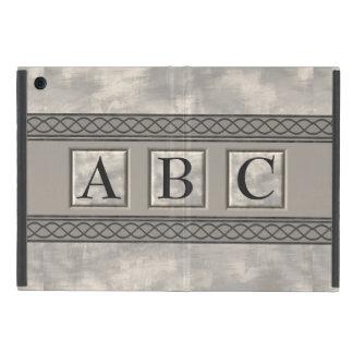 Personalizable Marble Monogram Cover For iPad Mini