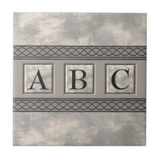 Personalizable Marble Monogram Ceramic Tile