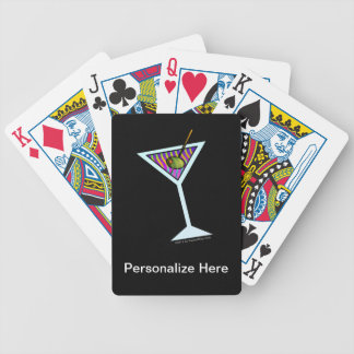Personalizable MARTINI ART PLAYING CARDS