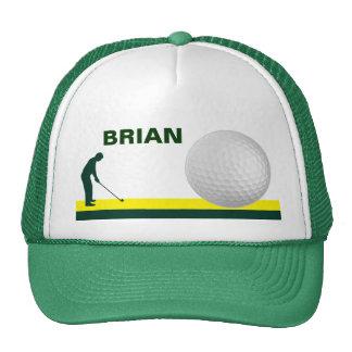 Personalizable masculino del gorra del golf