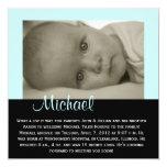 """PERSONALIZABLE - """"Michael """" Invitación 13,3 Cm X 13,3cm"""