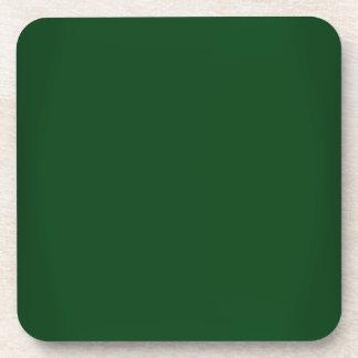 Personalizable moderno de Forest Green Posavaso
