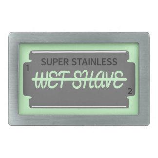 Personalizable mojado del afeitado de la hoja de hebillas cinturón rectangulares