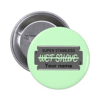 Personalizable mojado del afeitado de la hoja de pin redondo 5 cm
