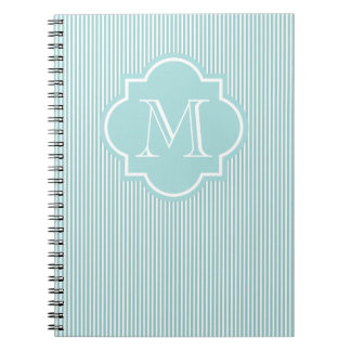 Personalizable Monogram M notebook | Turquoise