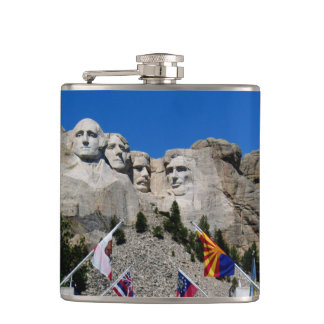 Personalizable Mount Rushmore Monument Photo Hip Flask