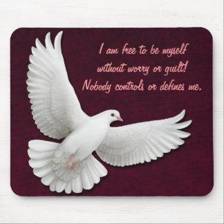 Personalizable Mousepad de la paloma del blanco qu Alfombrilla De Ratón